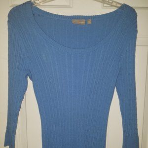 Croft & Barrow Medium Ribbed Neck T shirt Sweater